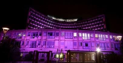 Da domani il Palazzo della Regione si tinge di rosa