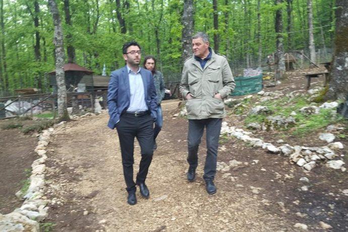 L'Assessore Regionale a Vico nel Lazio. Visita con il sindaco Guerriero presso Oasi faunistica degli Ernici ed edificio scolastico finanziato dalla Regione