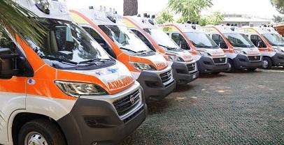Sanità – 86 nuove ambulanze per gli ospedali del Lazio