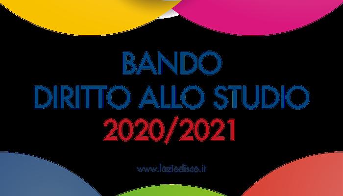 Pubblicato bando diritto allo studio anno accademico 2020/2021