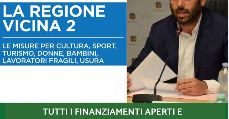 """La """"Regione Vicina"""", finanziamenti aperti per cittadini, famiglie, imprese, territori"""